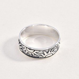 Sterling 925 Sun Ring Band